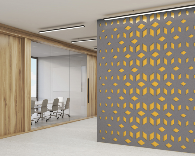 Zintra Acoustic Solutions come in a wide color selections and reduce noise